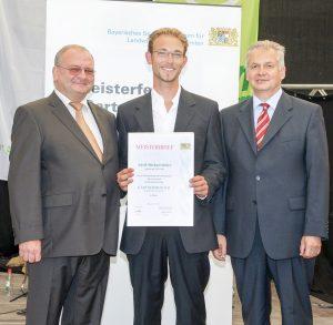 Meisterbriefverleihung für Adolf Michael Sieber